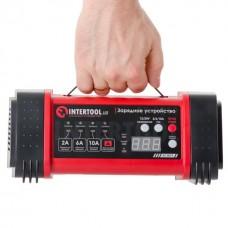 Зарядний пристрій 12/24В, 2/6/10А, 2/6A, 230В, дисплей. AT-3019 Intertool