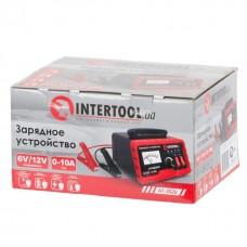 Зарядний пристрій 6 /12В, регулювання сили струму 0-10А, 230В AT-3020 Intertool