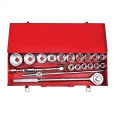 """Набір інструментів  3/4 """", 20од (гол.19-50мм) металевий кейс ET-6024 Intertool"""