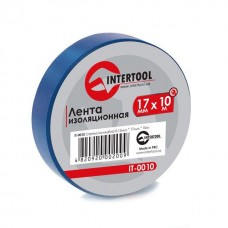Ізолента 0.15мм*17мм*10м синя (уп 10 шт) IT-0010 Intertool