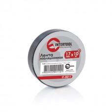 Ізолента 0.15мм*17мм*10м чорна (уп 10 шт) IT-0011 Intertool