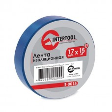 Ізолента 0.15мм*17мм*15м синя (уп 10 шт) IT-0015 Intertool