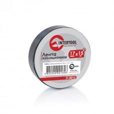Ізолента 0.15мм*17мм*15м чорна (уп 10 шт) IT-0016 Intertool