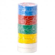 Ізолента 0.15мм*17мм*15м кольорова (уп 10 шт) IT-0019 Intertool
