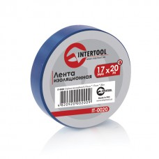 Ізолента 0.15мм*17мм*20м синя (уп 10 шт) IT-0020 Intertool