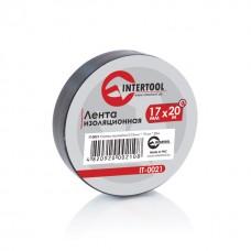Ізолента 0.15мм*17мм*20м чорна (уп 10 шт) IT-0021 Intertool