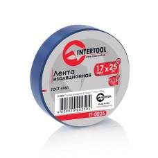 Ізолента 0.15мм*17мм*25м синя (уп 10 шт) IT-0025 Intertool