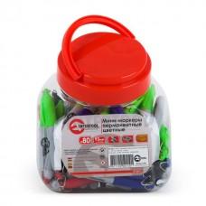 Міні-маркери перманентні кольорові L = 93 мм, 80 шт / упак. KT-5011 Intertool
