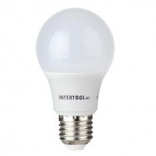 Лампа світодіодна E-27 10W куля A60 LL-0014 Intertool