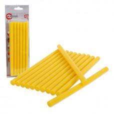 Комплект клейових стержнів жовтих 11,2 мм * 200 мм, 12 шт. RT-1021 Intertool