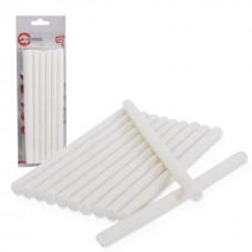 Комплект клейових стержнів білих 11,2 мм * 200 мм, 12 шт. RT-1022 Intertool