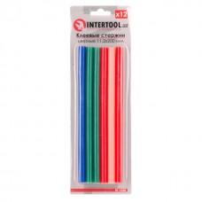 Комплект клейових стержнів кольорових 11,2 мм * 200 мм, 12 шт. RT-1028 Intertool