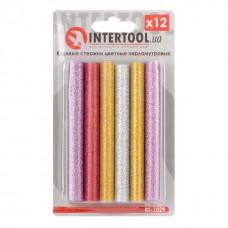 Комплект клейових стержнів перламутрових 11,2 мм * 100 мм, 12 шт. RT-1029 Intertool