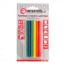 Комплект клейових стержнів кольорових 7,4 мм * 100 мм, 12 шт. RT-1031 Intertool