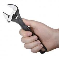 Ключ розвідний 200 мм, Cr-V, чорний, фосфатований. XT-0058 Intertool