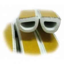 Ущільнювач D профіль 100 м білий 9*7,5 мм Budowa