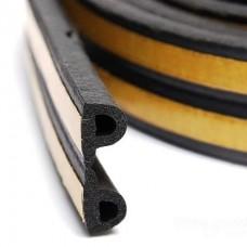 Ущільнювач Р профіль 100 м чорний 9*5,5 мм DNIPRO-M